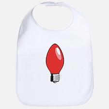 Red Christmas Tree Light Bulb Bib