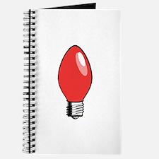 Red Christmas Tree Light Bulb Journal