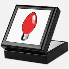 Red Christmas Tree Light Bulb Keepsake Box