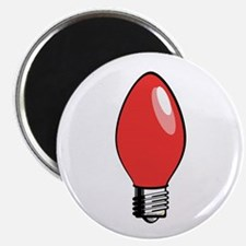 "Red Christmas Tree Light Bulb 2.25"" Magnet (10 pac"
