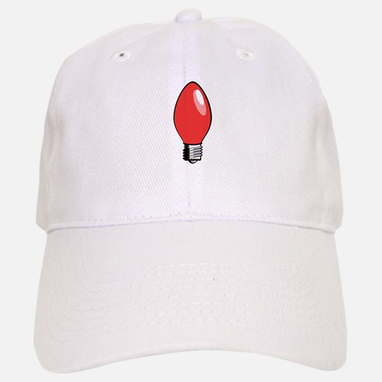 Red Christmas Tree Light Bulb Baseball Baseball Cap
