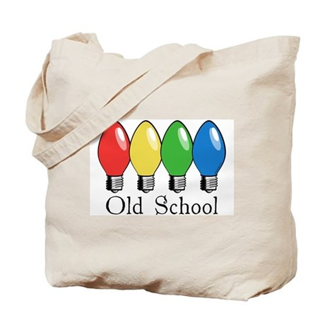 Old School Christmas Lights Tote Bag By Wheeholiday