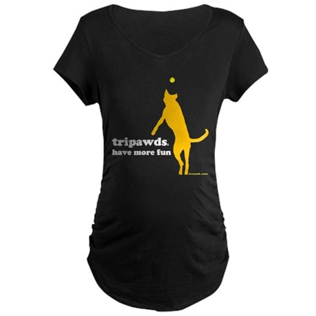 Tripawds Have More Fun Maternity Dark T-Shirt