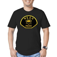 Weed Police Men's Fitted T-Shirt (dark)
