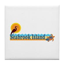 Seabrook Island SC - Beach Design Tile Coaster