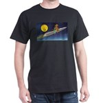 Space Travel of the 1950's Black T-Shirt