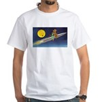 Space Travel of the 1950's White T-Shirt