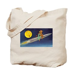 Space Travel of the 1950's Tote Bag