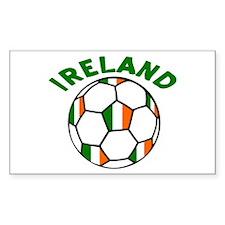 Irish Flag Football Rectangle Decal