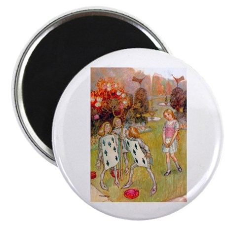 """PAINTING THE QUEEN'S ROSES 2.25"""" Magnet (10 pack)"""