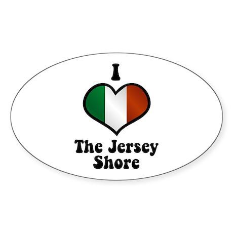 I Love the Jersey Shore Sticker (Oval)