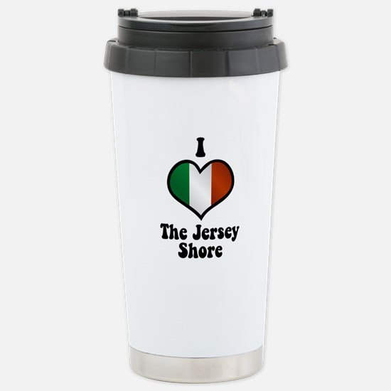 I Love the Jersey Shore Stainless Steel Travel Mug