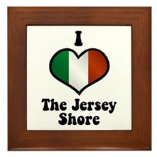 I Love the Jersey Shore Framed Tile