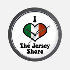 I Love the Jersey Shore Wall Clock