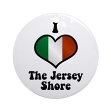 I Love the Jersey Shore Ornament (Round)