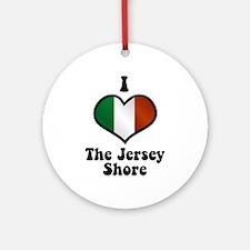 I Love the Jersey Shore Ornament (Round)