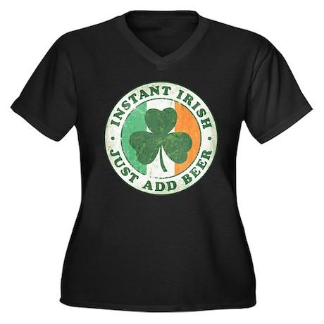 Instant Irish [vintage] Women's Plus Size V-Neck D