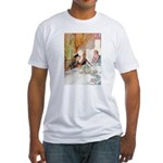 MAD HATTER'S TEA PARTY Fitted T-Shirt