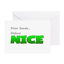 Santa, Define Nice Greeting Card