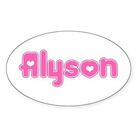 """Alyson"" Oval Sticker"