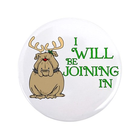 """Red-Nosed Bull Dog 3.5"""" Button (100 pack)"""