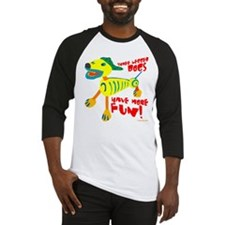 Three Legged Dogs More Fun Baseball Jersey