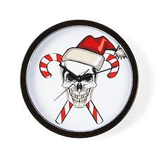 Christmas Skull Wall Clock