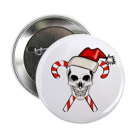 "Christmas Skull 2.25"" Button (100 pack)"