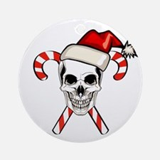 Christmas Skull Round Ornament