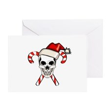 Christmas Skull Greeting Card