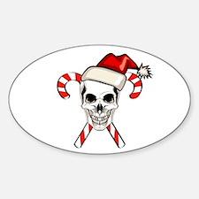 Christmas Skull Decal