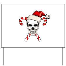Christmas Skull Yard Sign