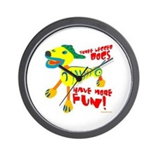 Three Legged Dogs More Fun Wall Clock