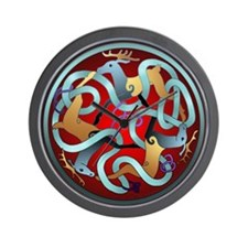 Celtic Deer Wall Clock