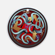 Celtic Deer Ornament (Round)
