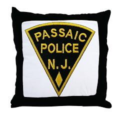 Passiac Police Throw Pillow