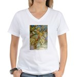 ALICE AND THE CAUCUS RACE Women's V-Neck T-Shirt
