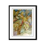 ALICE AND THE CAUCUS RACE Framed Panel Print