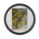 ALICE AND THE CAUCUS RACE Large Wall Clock