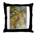 ALICE AND THE CAUCUS RACE Throw Pillow