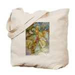 ALICE AND THE CAUCUS RACE Tote Bag