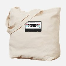 Runners Mix Tape Tote Bag