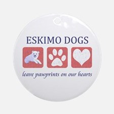 Eskimo Dog Lover Ornament (Round)