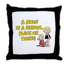 A Noun Throw Pillow