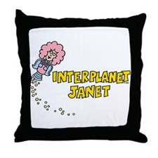 Interplanet Janet Throw Pillow