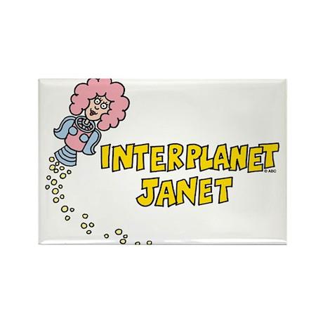 Interplanet Janet Rectangle Magnet