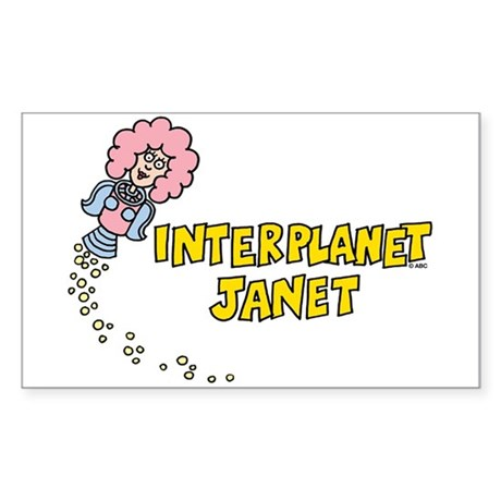 Interplanet Janet Sticker (Rectangle)