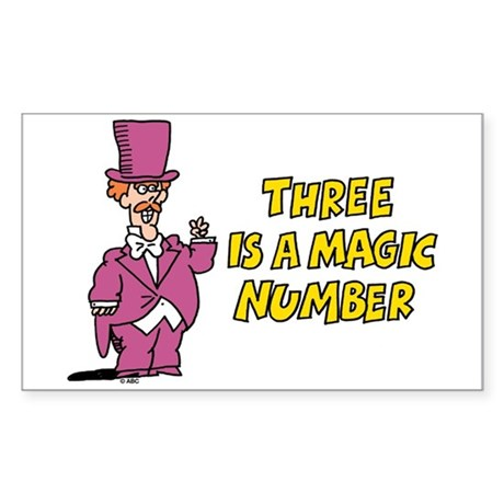 Magic Number Sticker (Rectangle)