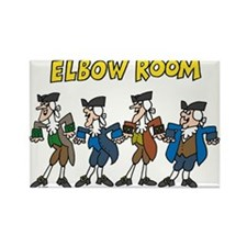 Elbow Room Rectangle Magnet