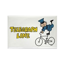 Telegraph Lane Rectangle Magnet